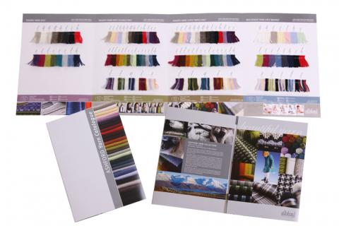 tekapo yarn colour card