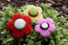 Needle Felting Kit - Flowers